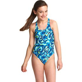 Zoggs Tie Marbling Rowleeback - Maillot de bain Enfant - vert/bleu